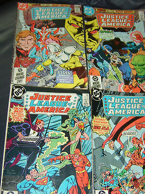 Justice League of America #235,236,237,238 Four Issue Lot 1985