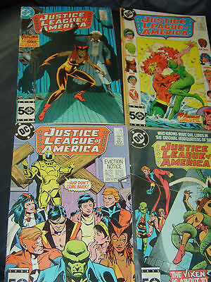 Justice League of America #239,242,246,247 Four Issue Lot 1985/86