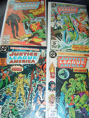 Justice League of America #224,228,229,230 Four Issue Lot 1984