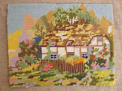 Vintage Completed Cross stitch English Country Cottage / Garden Collection D'Art