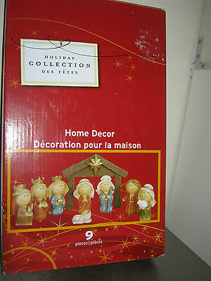 Holiday Collection Home Decor 9 Piece Nativity set