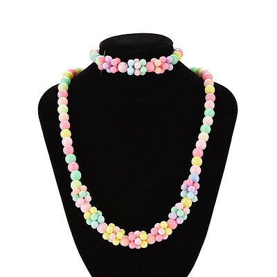 Cute Baby Toddlers Necklace&Bracelet Set Children Gift Girls Party Jewelry TB
