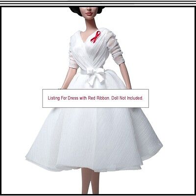 Elizabeth Taylor White Diamonds Chiffon Barbie Dress For The Adult Collector