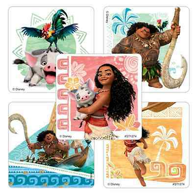 """30 Moana Stickers, Assorted, 2.5""""x2.5"""" each, Party Favors"""