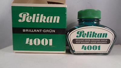 Ink Pelikan 4001 2 oz NOS GREEN Glass Bottle &  Box