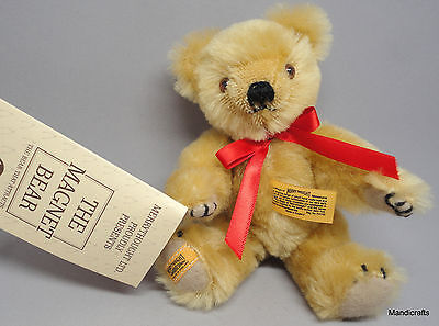 Merrythought Magnet Teddy Bear Mini Gold Mohair Plush 1932 Replica 7in All tags