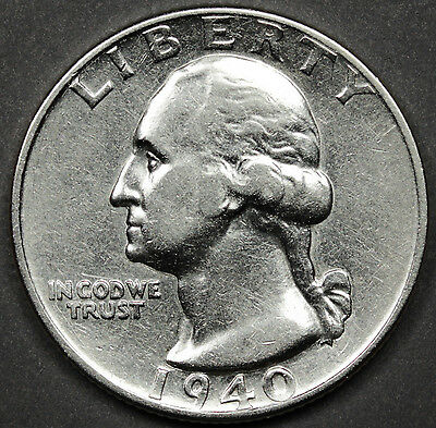 1940-d Washington Quarter.  A.U.(INV.A)