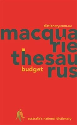 Macquarie Budget Thesaurus by Macquarie Dictionary - Paperback - NEW - Book
