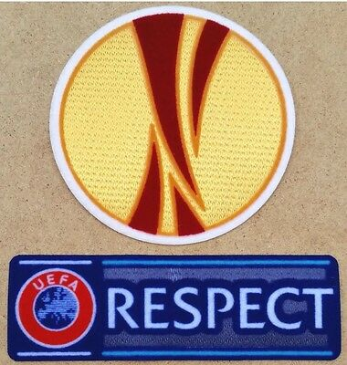 Uefa Europa League + Respect Football Patch Set, Soccer Shirt Badges