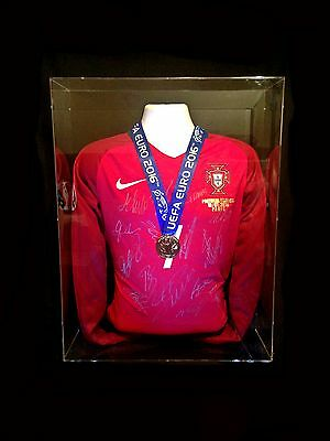 Euro Champions 2016 Portugal Squad Signed Final Shirt Display & Winners Medal