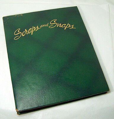 Vintage Used and Empty Leather SCRAPS AND SNAPS Album