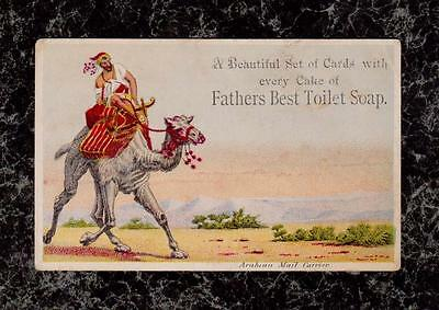 Arabian Mail Carrier on Camel Fathers Best Toilet Soap Victorian Trade Card