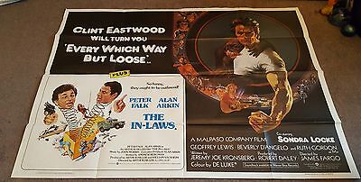 EVERY WHICH WAY BUT LOOSE 1978 Clint Eastwood IN-LAWS Original UK QUAD POSTER