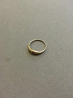 Vintage 10K Gold With Amber Stone - Size 3.75