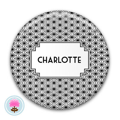 Personalised Art Deco STAR Compact/Handbag/Purse/Makeup/Bag Pocket Mirror (58mm)