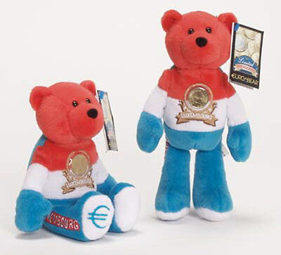Luxembourg Euro Coin Bear Retired  Plush Collectible Bear Limited Treasures