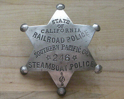 State Of California Railroad Police Badge  Bw -78