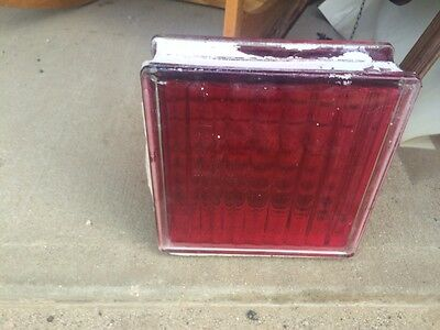 20 Very rare Red Vintage Glass Block and Cool Blue Glass blocks.