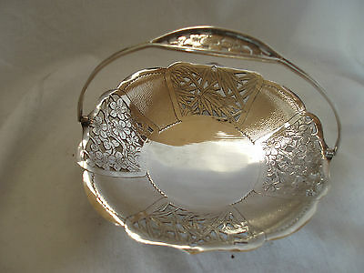 Cake Dish Chinese Sterling Silver Circa 1930