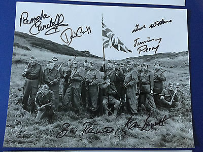 Dads Army cast signed photo collection autograph BBC Clive Dunn Jimmy Perry