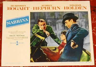 SABRINA orig '54 AUDREY HEPBURN Humphrey BOGART William HOLDEN all on Card #5