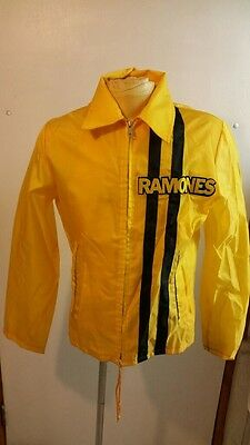 Vintage Rare Ramones Nylon Racing Jacket 70's Rock And Roll