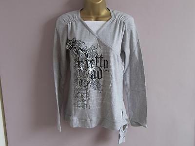 Job Lot BNWT C&A Grey Long Sleeve Cotton V Neck Tops - 2 sizes -  13 sku (lot E)