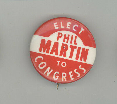 1960 PHIL MARTIN Rhode Island Theophile US HOUSE POLITICAL Pinback BUTTON Pin