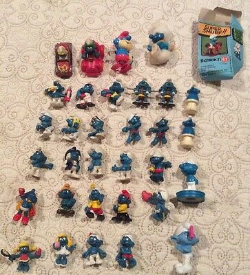 Vintage Smurf Scheich Lot -25+ Figures And Extras