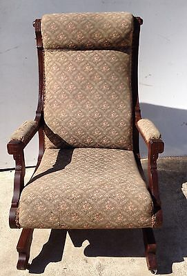 Antique~Eastlake Rocking Chair~Carved~Victorian Platform Rocker Streit & Schmit