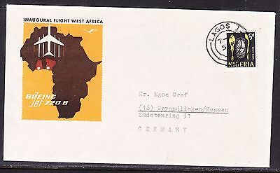 NIgeria 1962 Inaugural West Africa  Lagos to Germany  Flight Cover