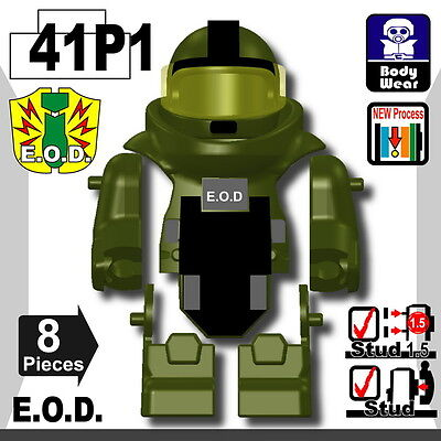W217 Tactical Police Vest compatible with toy brick minifigures SWAT P1