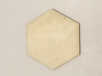 Crafting Supplies - Hexagon Unfinished Wood, Laser Cut Wood. Craft,  A059