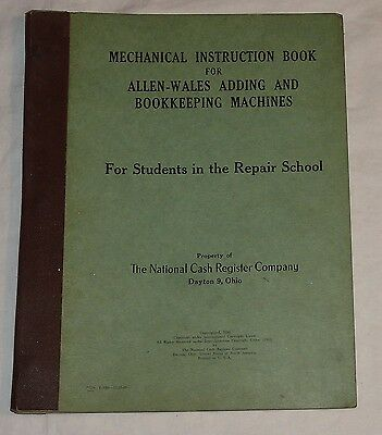 NCR National Cash Register Allen Wales Adding Bookkeeping Machine Repair Book 50