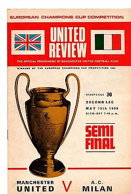 1968-1969  Manchester United v Real Madrid Semi Final
