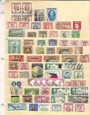 Philippines  1940's+  Victory Commonwealth TB  Overprint  Small Collection / Lot