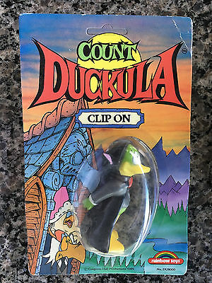 Count Duckula Clip On Brand New on Card from 1989