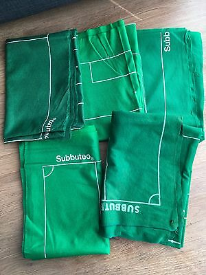 5 x Subbuteo Football Playing Cloth Pitch Pitches