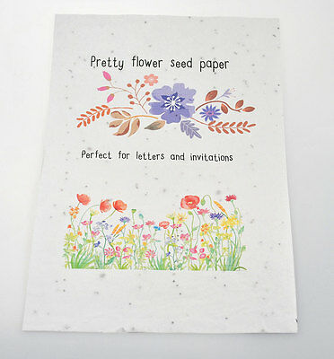 10 sheets A4 Printable Flower Seed Paper