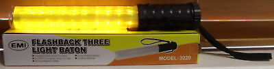 Police Security Led Light Wand Traffic Safety Baton Concert Parking Yellow