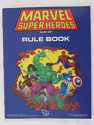 Marvel Super Heroes Basic Set Rule Book 1991 Role Play Game