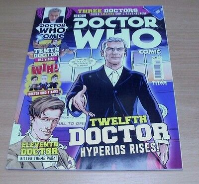 Titan Doctor Who Comic Issue #2 APR 2015 Twelfth Dr Hyperios Rises, 3 Adventures