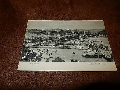 Early postcard- busy scene - Rothesay - Isle of Bute - Argyll & Bute - Scotland