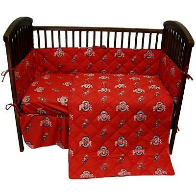 College Covers OHICS Ohio State 5 piece Baby Crib Set
