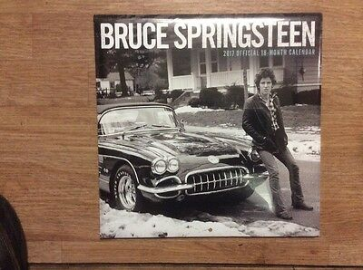 BRUCE SPRINGSTEEN OFFICIAL 2017 18 Month CALENDER NEW SEALED GENUINE
