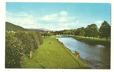 Peebles - a photographic postcard of Priorsford Bridge