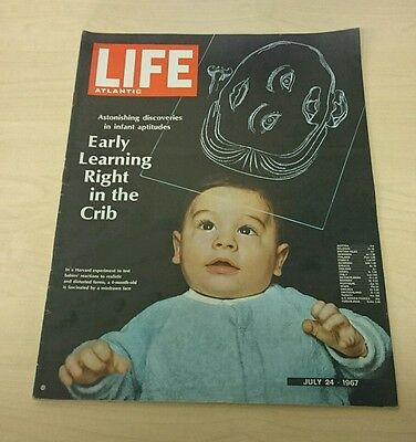 Vintage Life Atlantic Magazine - July 24 1967 - Early Learning Right in The Crib