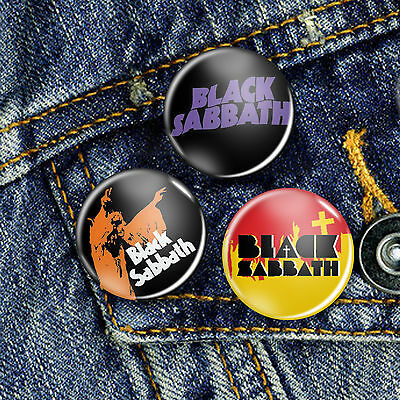 Black Sabbath Ozzy Pin Button Badge 25mm, CHOICE OF 3