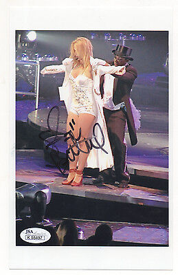 Britney Spears signed photo - hot white outfit - JSA COA TOUGH!