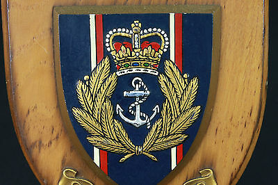 ROYAL NAVY SHIELD CREST BADGE Vintage Wall Plaque